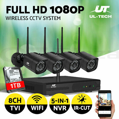 AU265 • Buy UL-tech Security Camera System Wireless Home 1TB HDD Set CCTV WIFI 1080P 8CH NVR