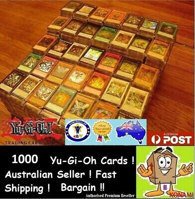 AU67.50 • Buy YuGiOh! 1000 + Bulk Cards Pack [100 Rares & HOLOS] BEST GENUINE KONAMI AUSTRALIA