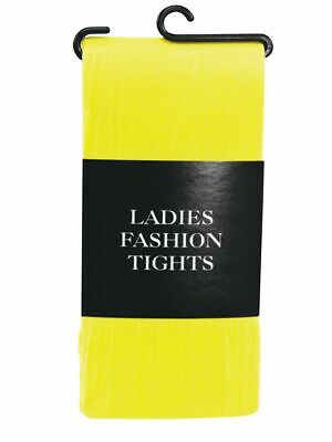 £3.45 • Buy Yellow Ladies Tights Adults Sexy Tights For Fancy Dress