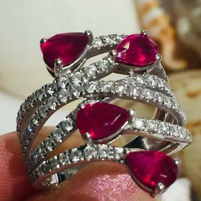 $2899 • Buy Estate Vintage Natural Ruby 2.38ct 18K Solid Gold Diamond Ring Size6.5 #R2149