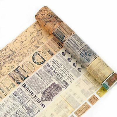 $ CDN5.30 • Buy Newspaper Washi Sticker Paper Masking Self Adhesive Tape Craft Scrapbooking YW