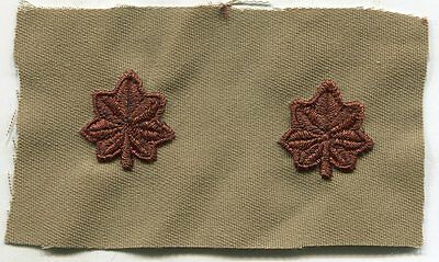 Us Army Embroidered Dcu Sew On Rank Insignia Set: Major  Military  • 1.96£