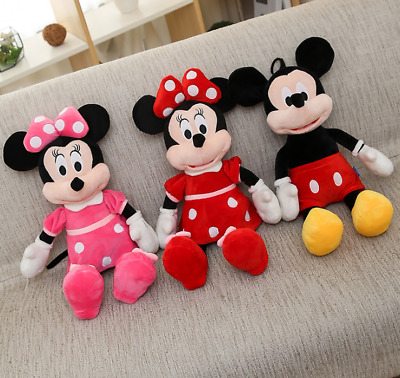 Mickey Mouse Minnie Mouse Disney Plush Stuffed Toy Animal Doll Kids Gift 40CM • 8.99£