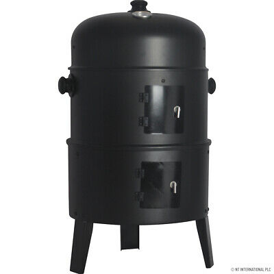 Round Smoker Bbq Charcoal Barbecue Grill Outdoor Garden Patio Party Cooker New • 39.95£