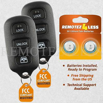 $13.97 • Buy 2 For 2004 2005 2006 Toyota Tundra Keyless Entry Remote Key Fob Hyq12bbx