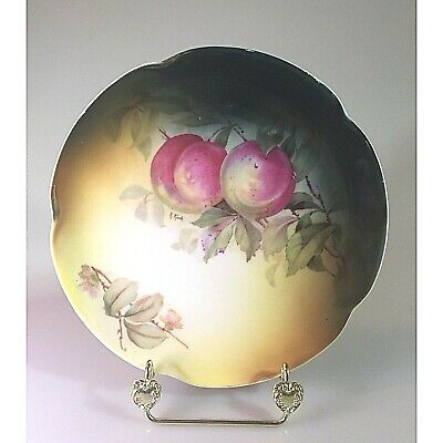 $6.50 • Buy Vintage Jaeger J & C Bavaria Louise Decorative Plate Peaches And Blossoms