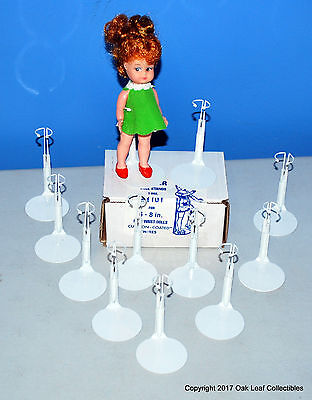 £15.86 • Buy 12 Kaiser #1101 Doll Stands, White, For 6-7  Tall Like Dawn, Other Small Dolls.