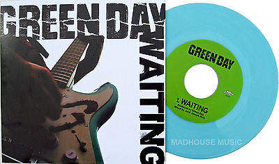 GREEN DAY 7  Waiting CLEAR BABY BLUE Vinyl / Maria - LIVE 2014 Official Limited • 11.95£