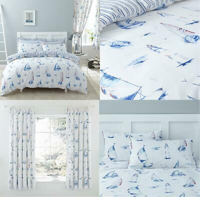 Charlotte Thomas SALCOMBE Nautical Duvet Covers Bedding Sets Matching Curtains  • 23.99£