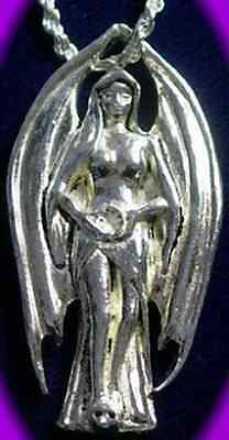 $ CDN86.64 • Buy COOL Gothic WICCAN ANGEL LILITH Celtic Solid Sterling Silver 925 Charm Pendant