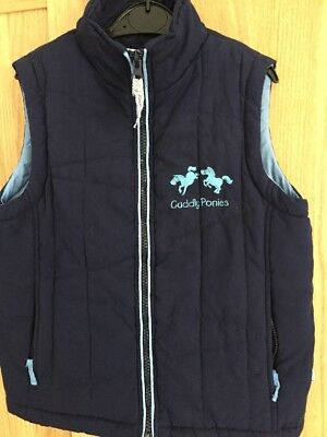 Girls Cuddly Ponies Padded Gillet Age 4 • 1.99£