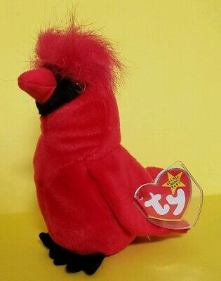 $1000 • Buy Ty MAC The CARDINAL BIRD Beanie Babies Baby Red OOP TAG ERRORS RETIRED RARE