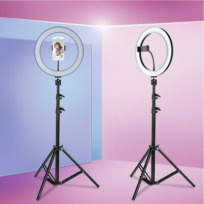 AU73.22 • Buy LED Dimmable Ring Light Studio Photo Video Live Lamp&Camera Phone Holder&Tripod