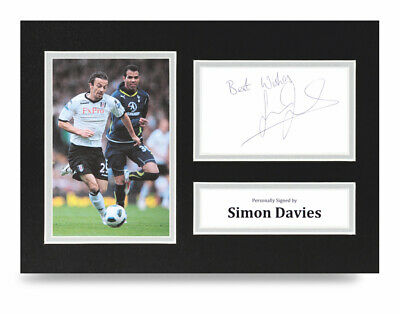 Simon Davies Signed A4 Photo Display Fulham Autograph Memorabilia + COA • 10£