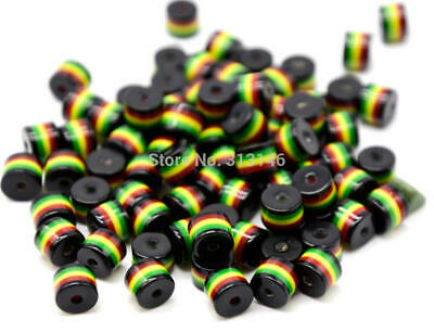 $1.68 • Buy 50pcs Black Cylinder Columnar Spacer Rasta Beads For DIY Jewelry Making 8X8.5mm