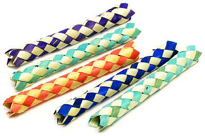 £6.07 • Buy 12 CHINESE FINGER TRAPS BAMBOO Party Favor Bird Parrot Toy Bird Cage Craft