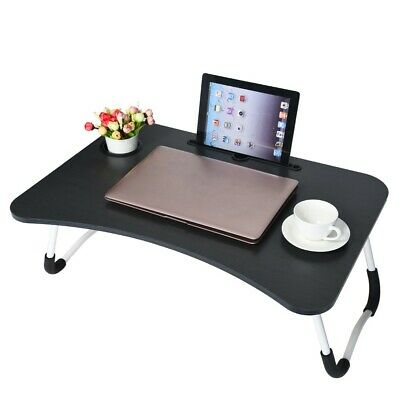 $25.63 • Buy Foldable Portable Laptop Stand Bed Laptop Table Small Desk Breakfast Tray Black