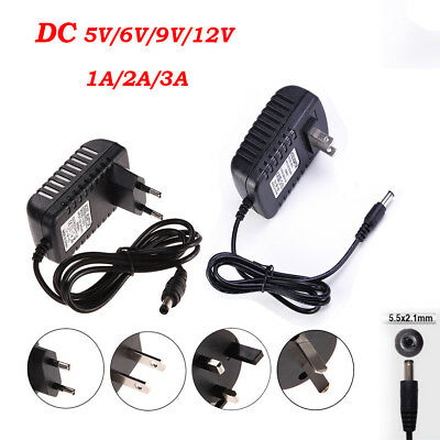 $ CDN5.88 • Buy Power Supply Adapter Transformer LED Strip 1A 2A 3A DC 5V 6V 9V 12V AC110 220V