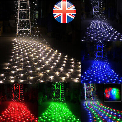 3x2M/6x4M LED Net Lights Garden Mesh Curtain Christmas Tree Wedding Party Decor • 6.92£