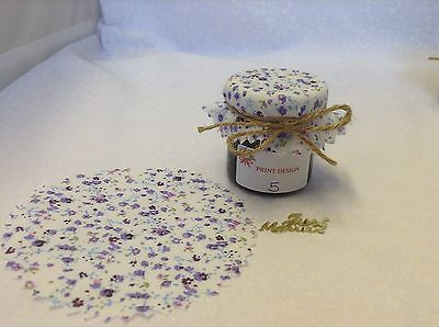 JAM Covers FABRIC VINTAGE LOOK Wedding LILAC Will Fit 1oz 1.5oz 42g Jars X50 • 10.50£