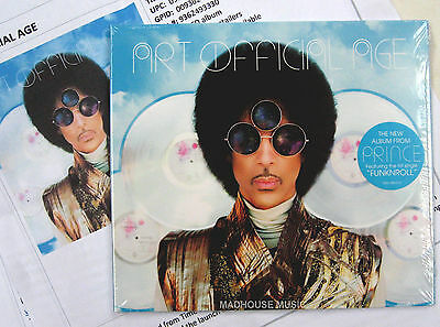 PRINCE CD Art Official Age 13 Track Solo Studio Album 2014 + PROMO Sheets SEALED • 19.95£
