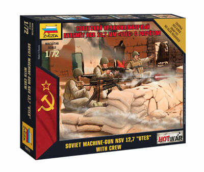 Zvezda 1/72 Soviet NSV 12.7  UTES  Machine Gun With Crew Z7411 • 4.95£