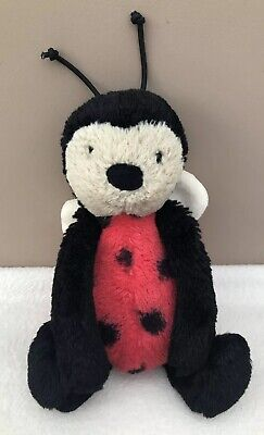 Jellycat Small Bashful Ladybug Ladybird Comforter Soft Toy Baby Red Black • 19.99£
