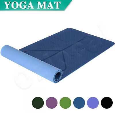 AU25.99 • Buy Premium TPE Yoga Mat Eco Friendly Exercise Fitness Gym Pilates Non Slip 8mm
