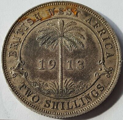 £39 • Buy British West Africa 1913 2 Shillings Silver Coin