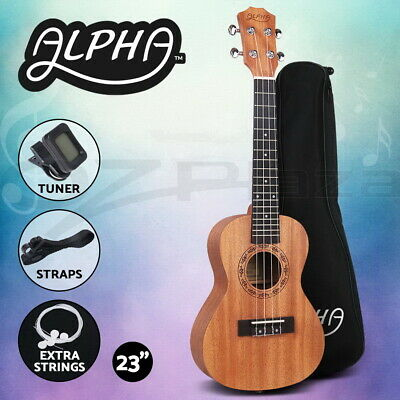 AU54.95 • Buy Alpha 23  Concert Ukulele Mahogany Ukuleles Uke Hawaii Guitar W/ Carry Bag Tuner