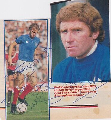 ALAN BALL & BILLY GILBERT (Portsmouth FC) Dual Hand SIGNED Picture Cutting • 10£