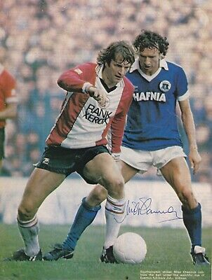 MICK CHANNON (Southampton Norwich City Portsmouth FC) Hand SIGNED A4 Poster • 8£