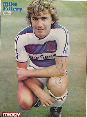 MIKE FILLERY (QPR, Chelsea Portsmouth FC) Hand SIGNED A4 Poster • 8.50£