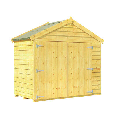 BillyOh Wooden Apex Bike Log Tool Store Double Door Roof Felt Shed 3ft X 6ft • 284£