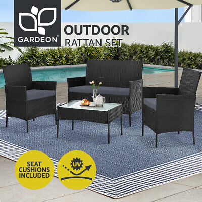 AU284.99 • Buy Gardeon Garden Furniture Outdoor Lounge Setting Wicker Sofa Set Patio Cushions