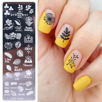 $1.32 • Buy Nail Art Stamping Plates Fashion Lace Flower Cats Templates Polish Stamper DIY