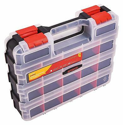 34 Section Double Sided Storage Case Compartment Fishing Locksmith Screws Box • 9.95£