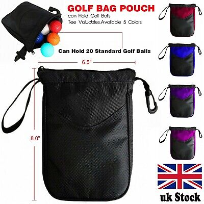 £4.75 • Buy Golf Tee Pouch Bags Valuables Clips Inner Zipper Bag Hold 10 Balls Gifts 1 Pc UK