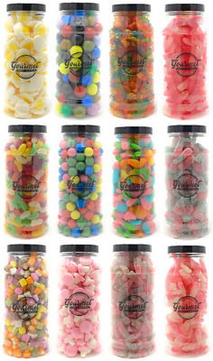 GIFT JARS Of RETRO SWEETS Candy Wedding Favours Kids Treat Party Bags Bulk Candy • 5.95£
