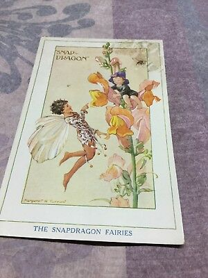 Old Postcard Margaret Tarrant  The   Snap Dragon Fairies • 3.20£
