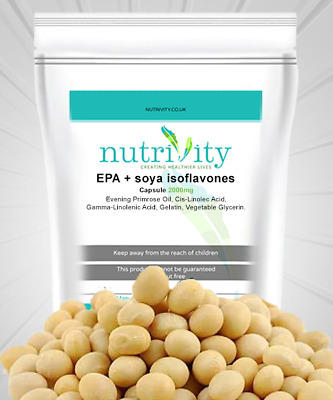 Evening Primrose Oil + Soya Isoflavones 1000/1000mg Capsules Made By Nutrivity • 16.28£