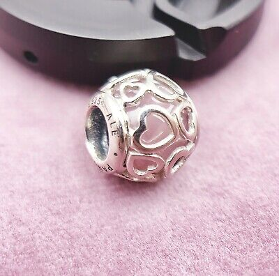 26f905f36 Authentic Pandora Charm Bead Encased In Love Charm, Pink 792036 • 24.99$