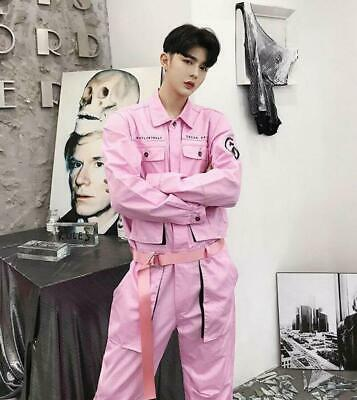 $70.42 • Buy Outdoor Cargo Overalls Mens Fashion Pockets Work Overall Jumpsuits Loose Trouser