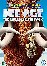 Ice Age 1 2 3 4 DVD Box Set Complete Collection + Mammoth Christmas All 5 Movies • 7.89£