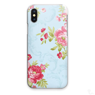 AU12.61 • Buy Blue Floral Print Phone Case Rose Red Hard Cover For Apple Samsung Huawei Sony..