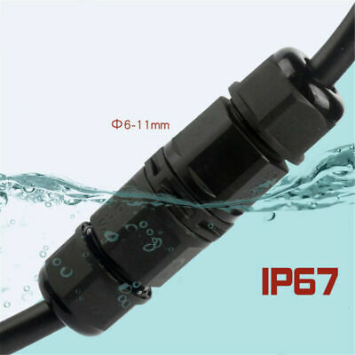 £2.89 • Buy 2/3/4 Pole Core Joint Outdoor IP67 Waterproof Electrical Cable Wire Connector
