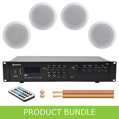 Home/Office Music System With 4 Ceiling Speakers • 224£