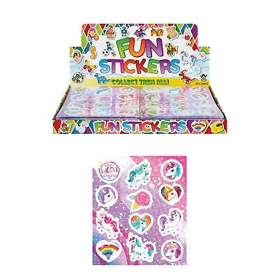 Unicorn Stickers Ideal Birthday Party Bag Fillers Kids Children Packs Of 12-48 • 1.14£