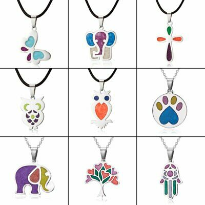 $1 • Buy Colorful Stainless Steel Animal Enamel Necklace Pendant Silver Chain Women Gift