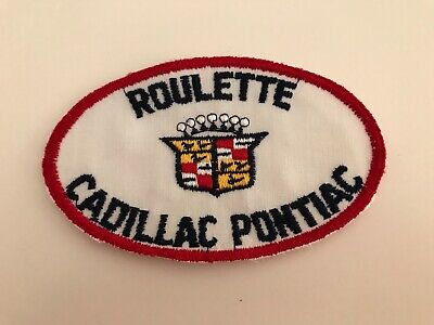 Vintage 1950/60's Embroidered Roulette Cadillac Pontiac Jacket Patch 5  X 3  • 17.09$